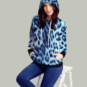 Leopard Blue Snow All Over Print Hoodie - Get Set Style Metro