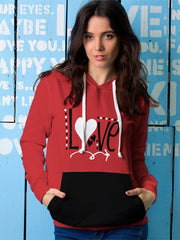 Love All Over Print Hoodie - Get Set Style Metro