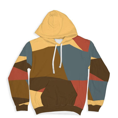 Multi Color All Over Print Hoodie - Get Set Style Metro