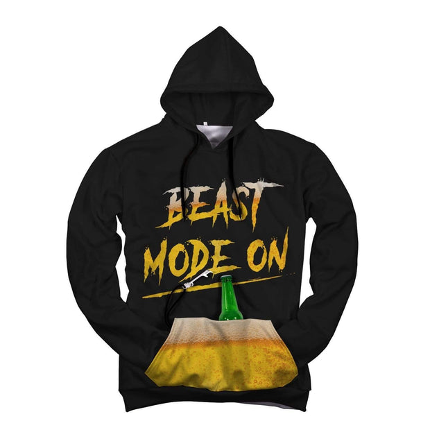 Beast Mode On AOP Pop Top Hoodie - Get Set Style Metro