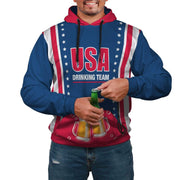 USA Drinking Team AOP Pop Top Hoodie - Get Set Style Metro