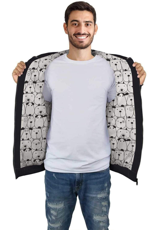 Personalized Black AOP Zip Hoodie with Dogs Inside Print - Get Set Style Metro