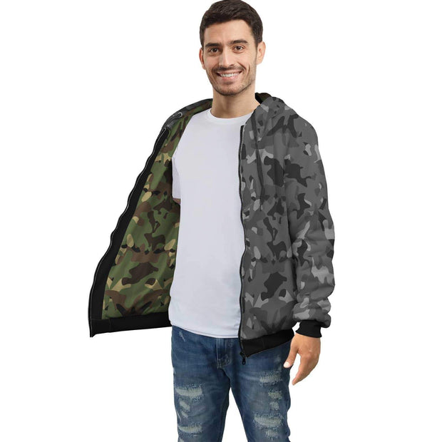 Personalized Camouflage AOP Zip Hoodie with Inside Print - Get Set Style Metro