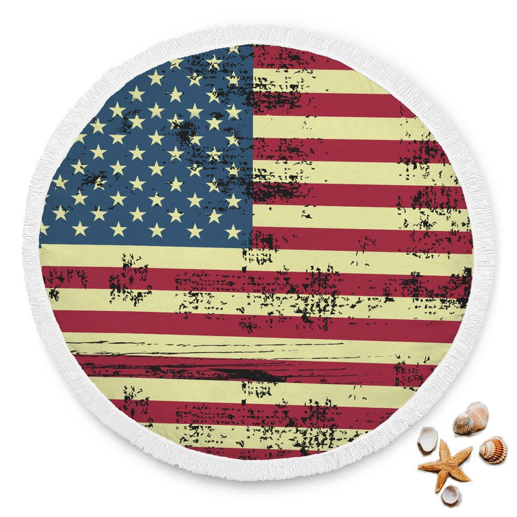 American Flag Custom Design Rounded Blanket - Get Set Style Metro