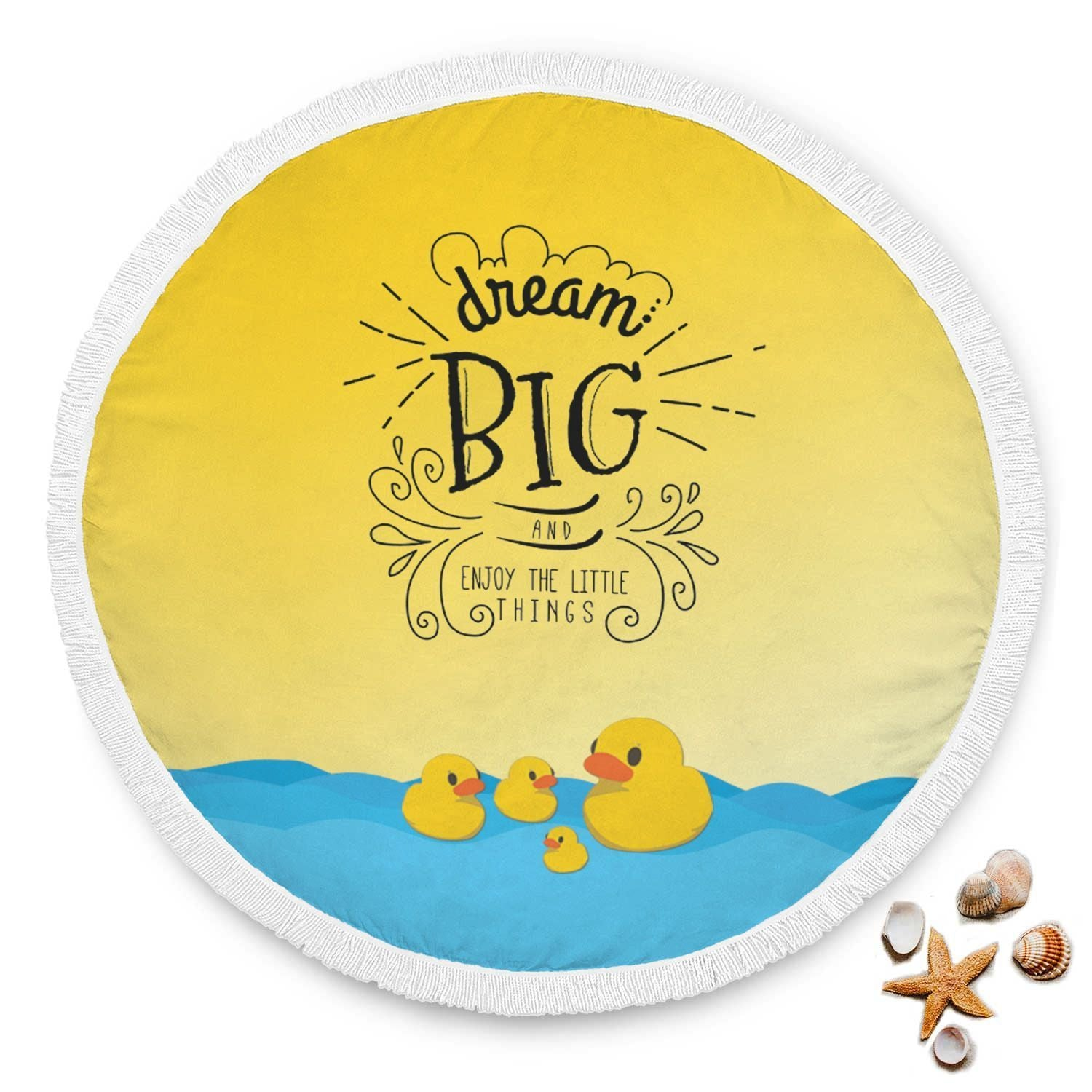 Custom Made Beach Round Blanket That You Can Create - Get Set Style Metro