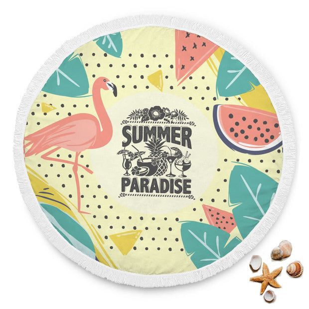 Summer Paradise Custom Design Rounded Blanket - Get Set Style Metro