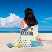 GetSetStyleMetro Beach Blanket Summer Paradise Custom Design Rounded Blanket