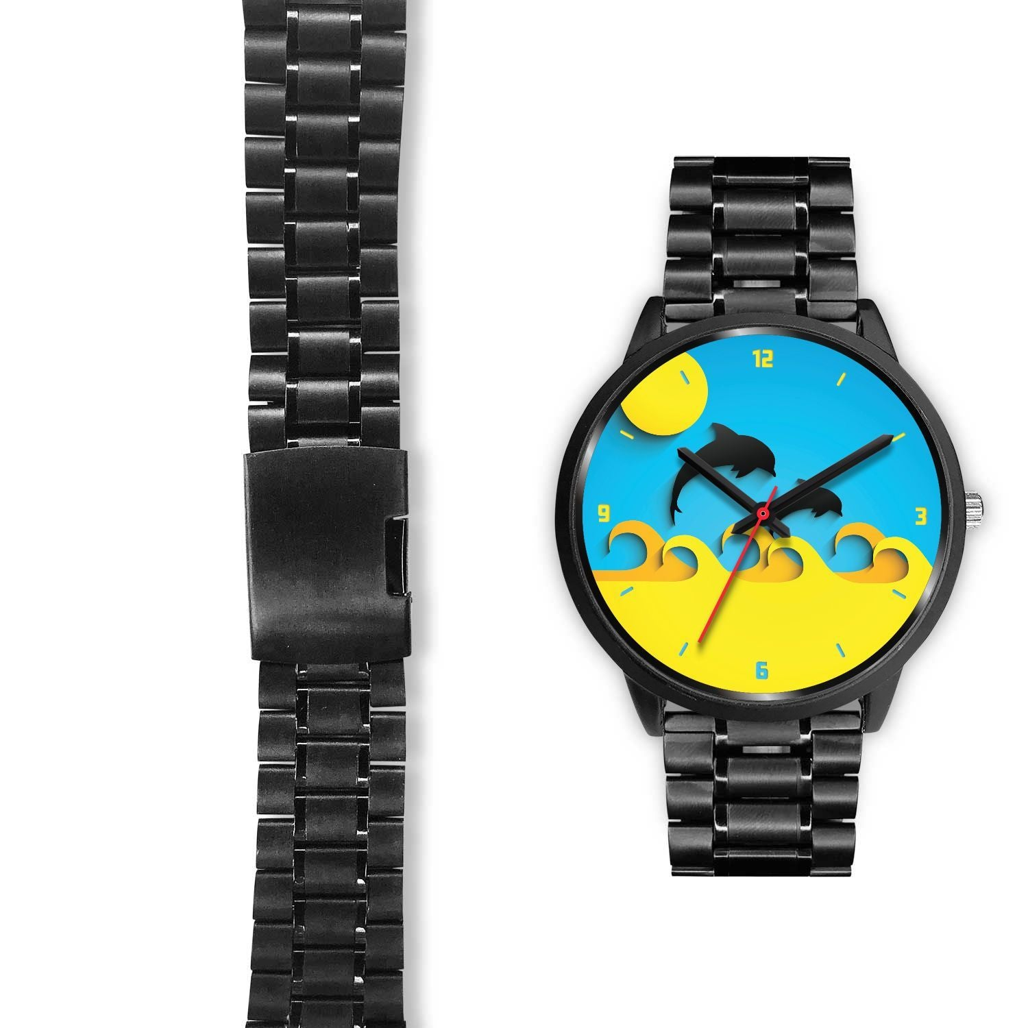 Dolphins at Play Customized Design Watch - Get Set Style Metro