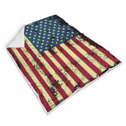 American Flag Custom Designed Normal Blanket - Get Set Style Metro