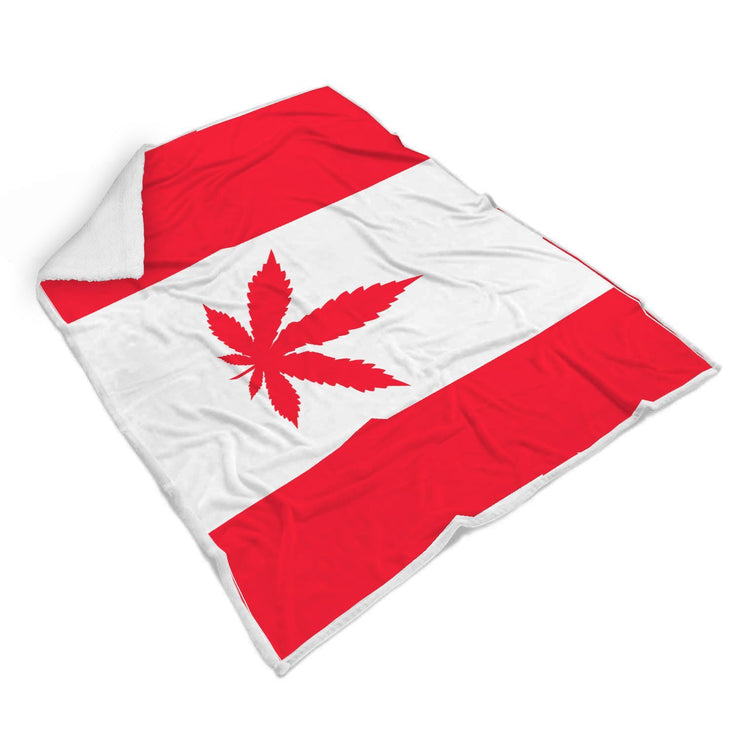 Canada Flag With Weéd Design Normal Blanket - Get Set Style Metro