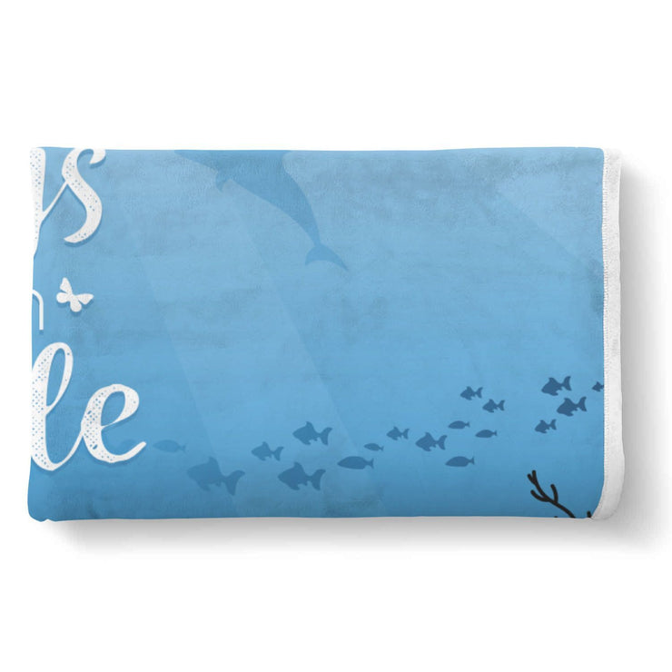 Dolphin Custom Designed Normal Blanket - Get Set Style Metro