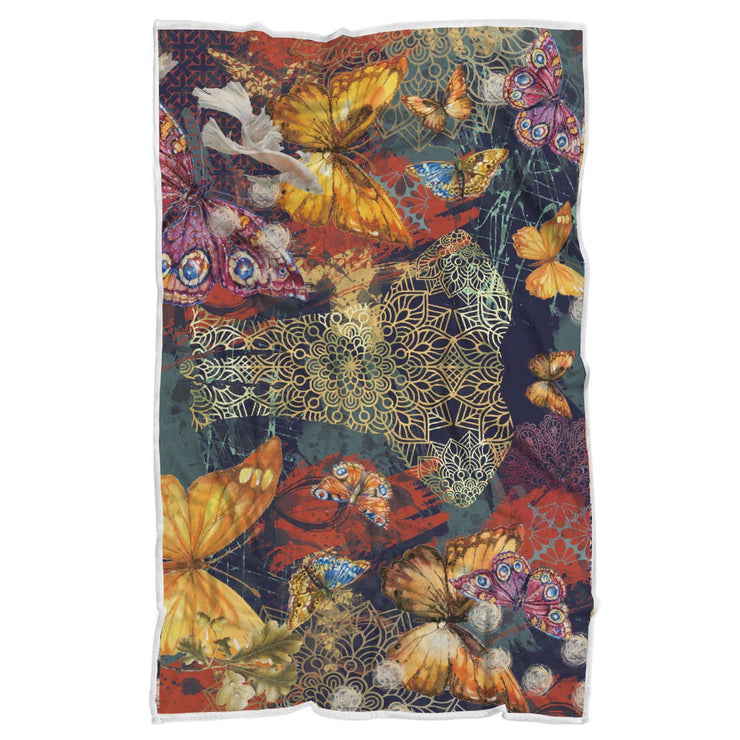 Elephant Spirit And Butterflies Normal Blanket Towel - Get Set Style Metro