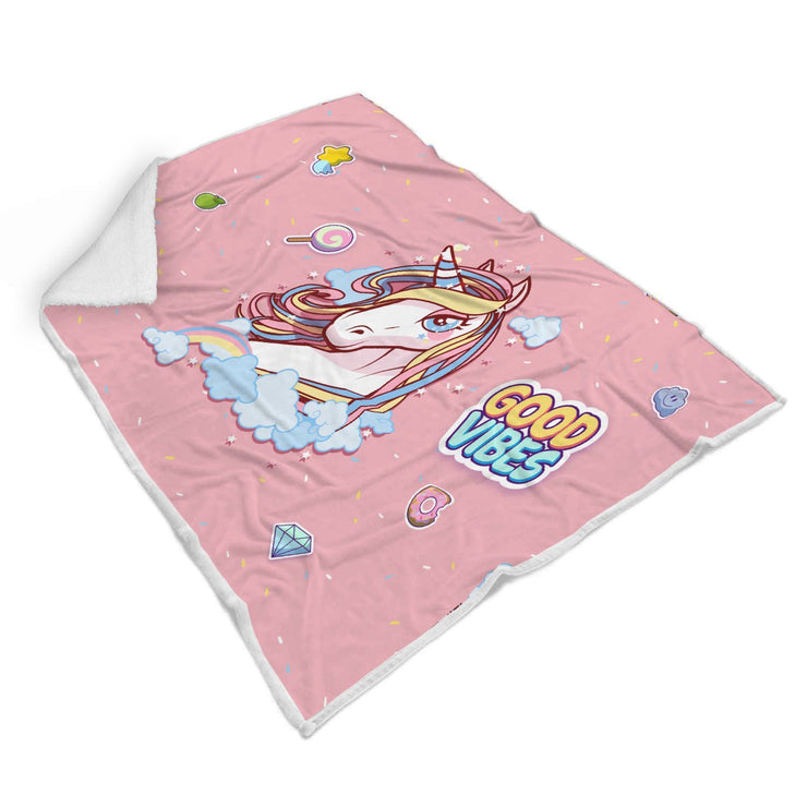 Good Vibes Unicorn Custom Designed Normal Blanket - Get Set Style Metro