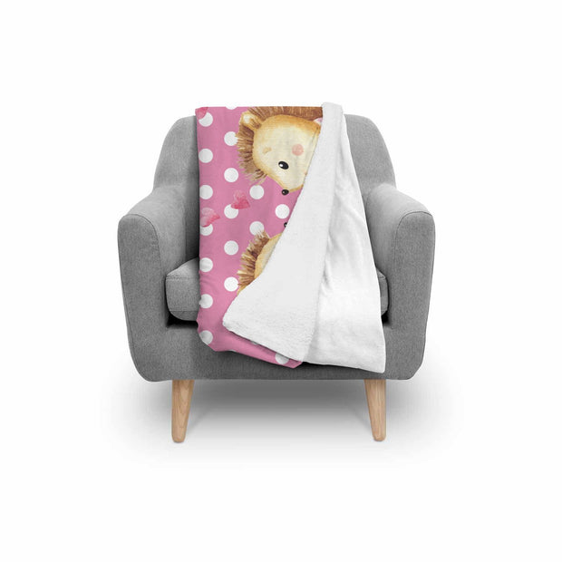 Hedgehog Valentines Normal Blanket - Get Set Style Metro
