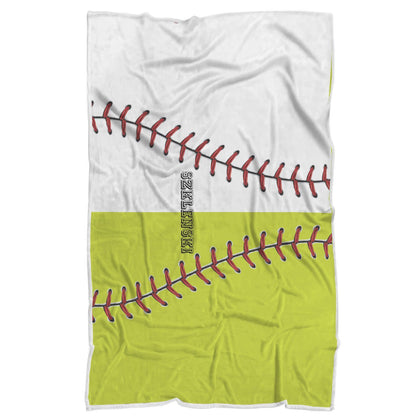 Softball Baseball Design Normal Blanket for SZKLENSKI - Get Set Style Metro