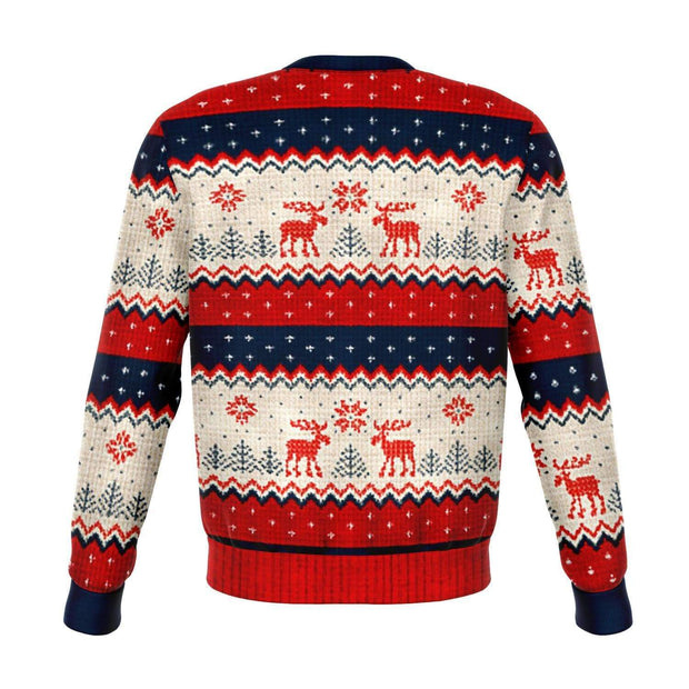 Meme King #1 Ugly Christmas Fashion Sweatshirt AOP - Get Set Style Metro