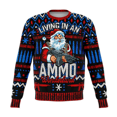Ammo Wonderland Ugly Christmas Fashion Sweatshirt AOP - Get Set Style Metro