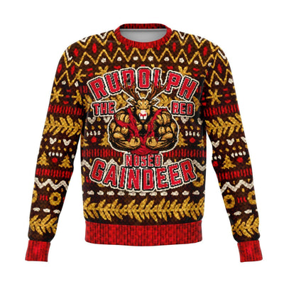 Gaindeer Ugly Christmas Fashion Sweatshirt AOP - Get Set Style Metro