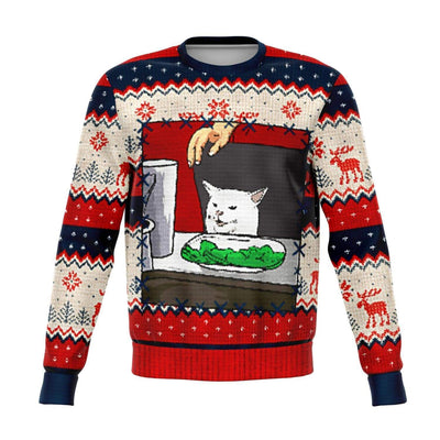 Meme King #2 Ugly Christmas Fashion Sweatshirt AOP - Get Set Style Metro