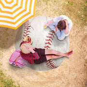 Awesome Baseball Freeform Beach Towel - Get Set Style Metro