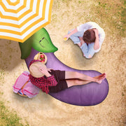 Awesome Eggplant Freeform Beach Towel - Get Set Style Metro