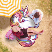 Awesome White Unicorn Freeform Beach Towel - Get Set Style Metro