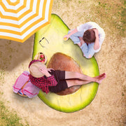 Yummy Avocado Freeform Beach Towel