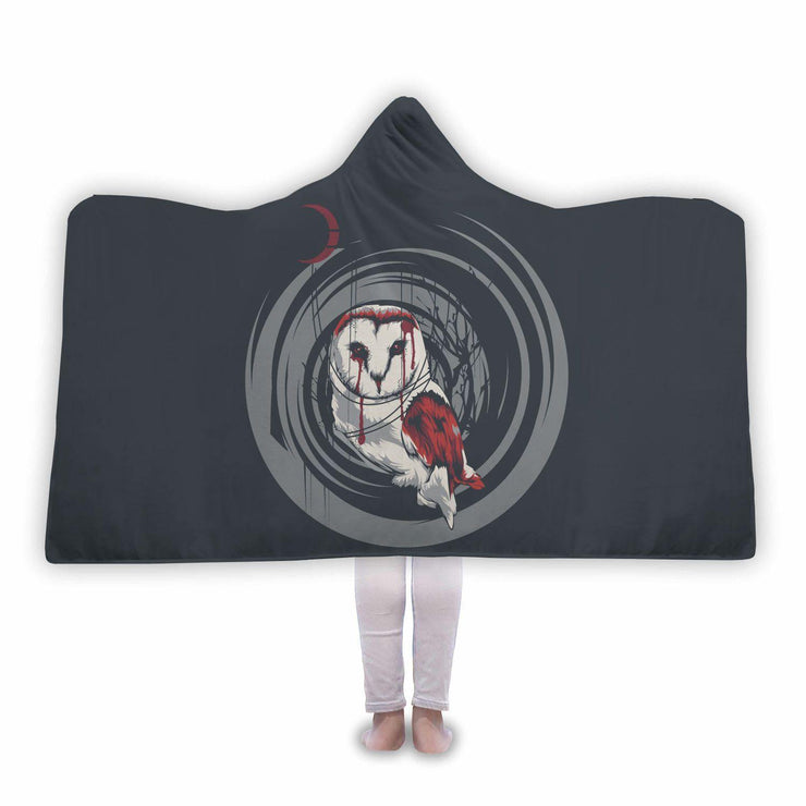 Awesome Bloody Owl Hooded Blanket - Get Set Style Metro
