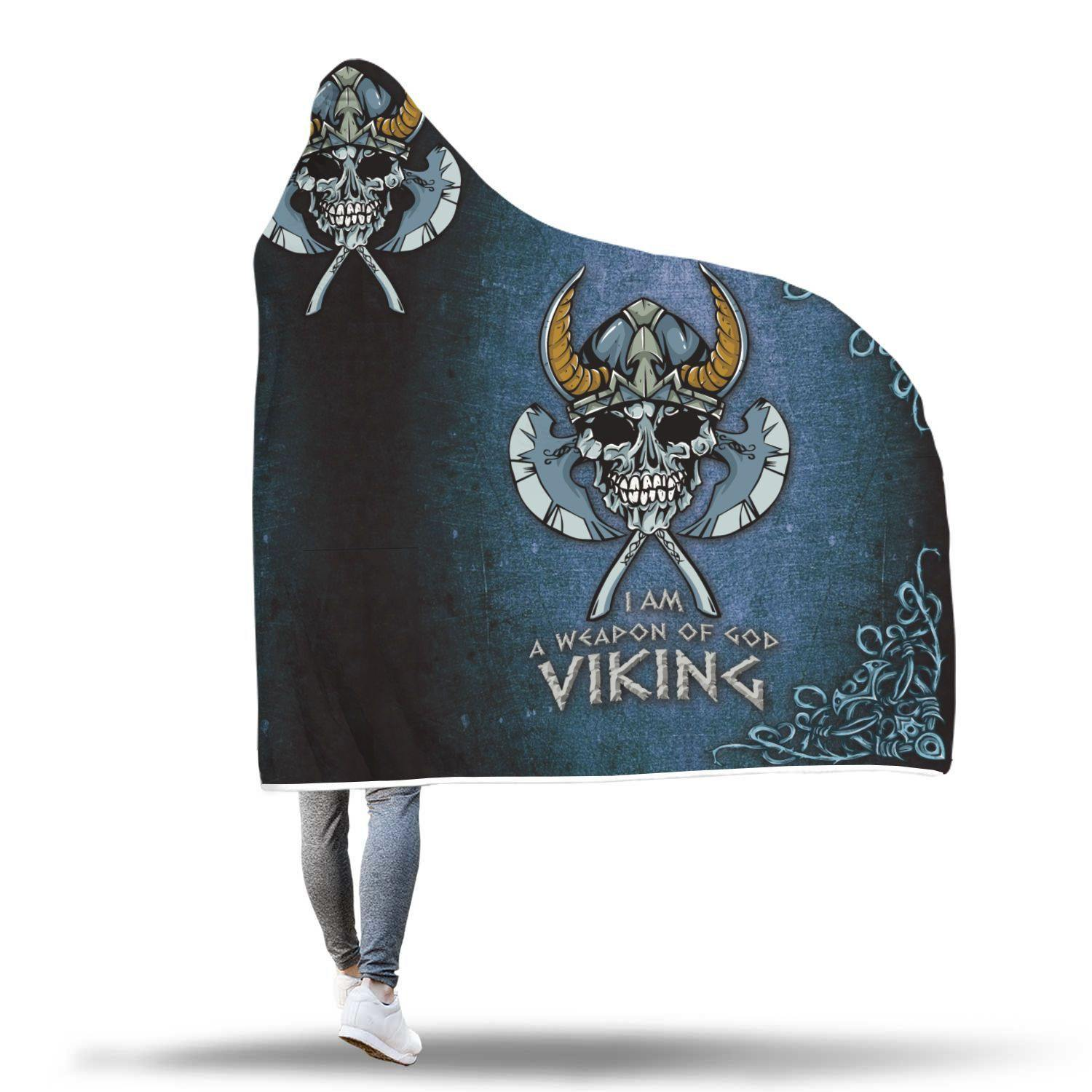 Awesome God of Viking Inspired Design Hooded Blanket - Get Set Style Metro