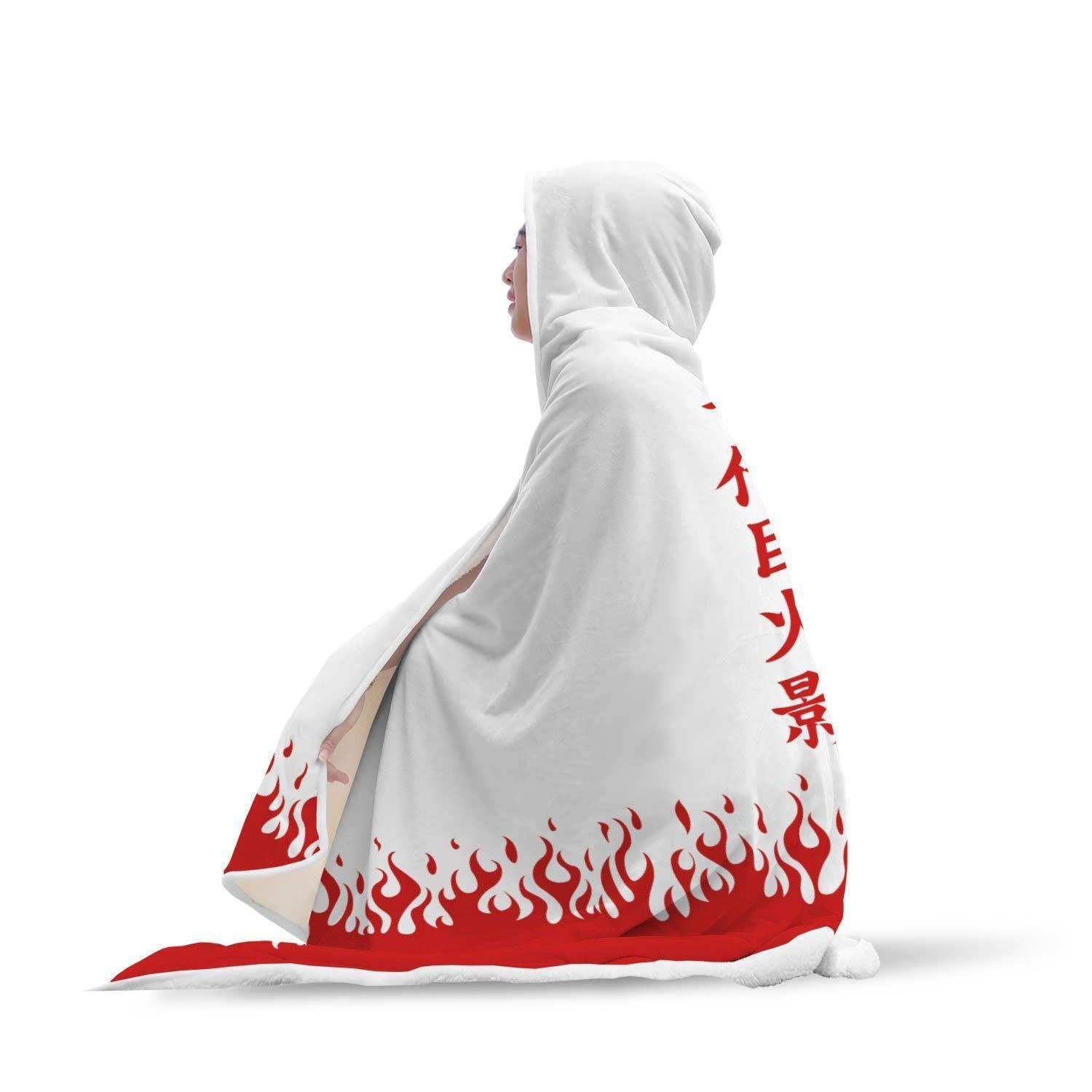 Awesome Naruto Hokage Cloak Inspired Hooded Blanket - Get Set Style Metro