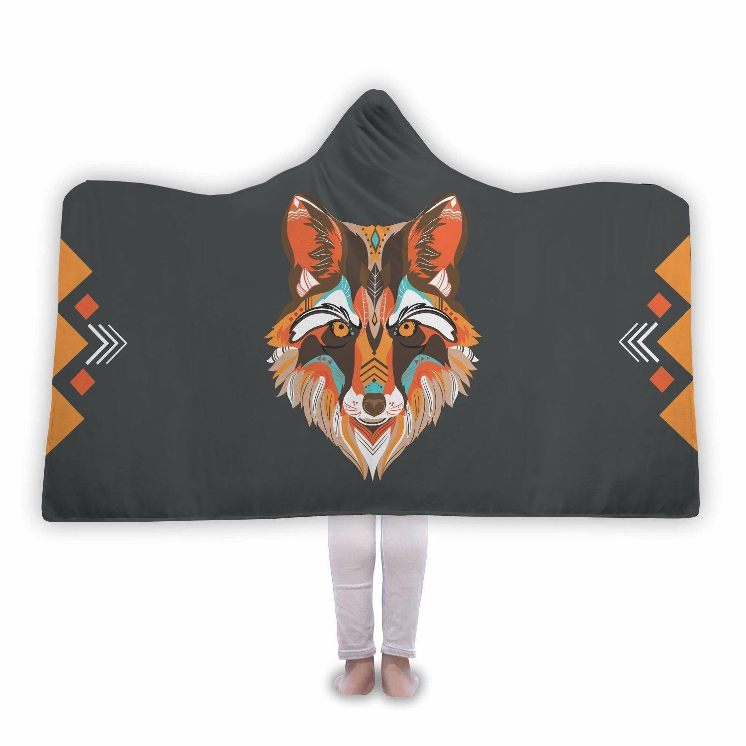 Awesome Vector Wolf Hooded Blanket - Get Set Style Metro