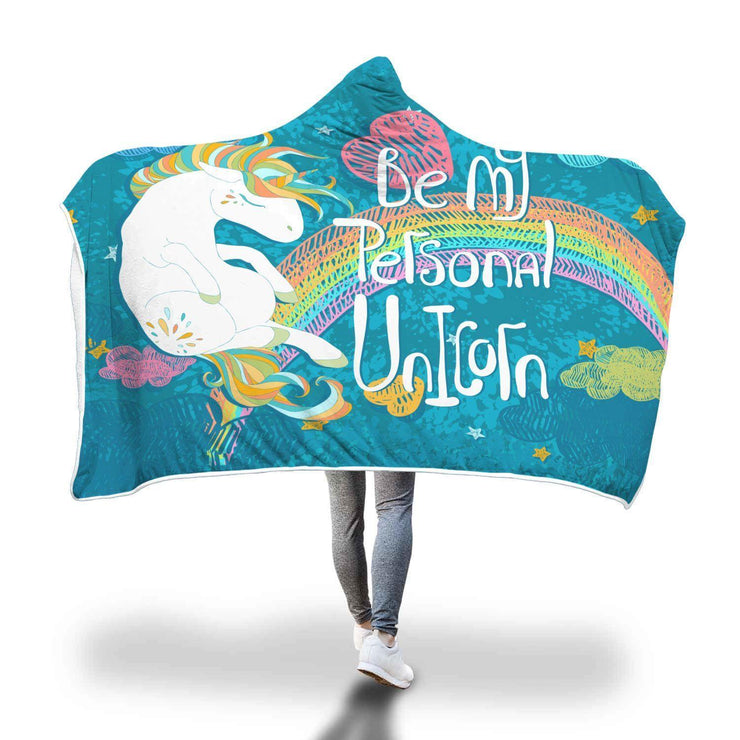 Be My Personal Unicorn Hooded Blanket - Get Set Style Metro