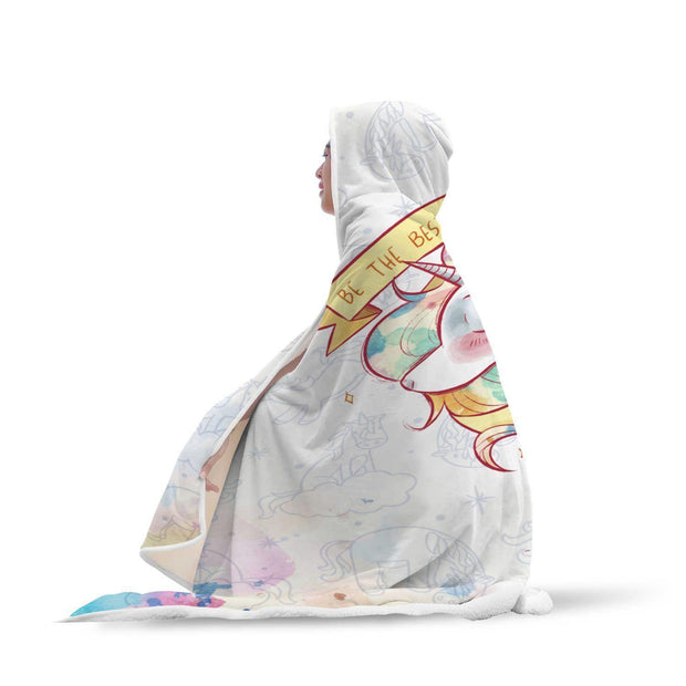 Be The Best You Can Be Unicorn Hooded Blanket - Get Set Style Metro