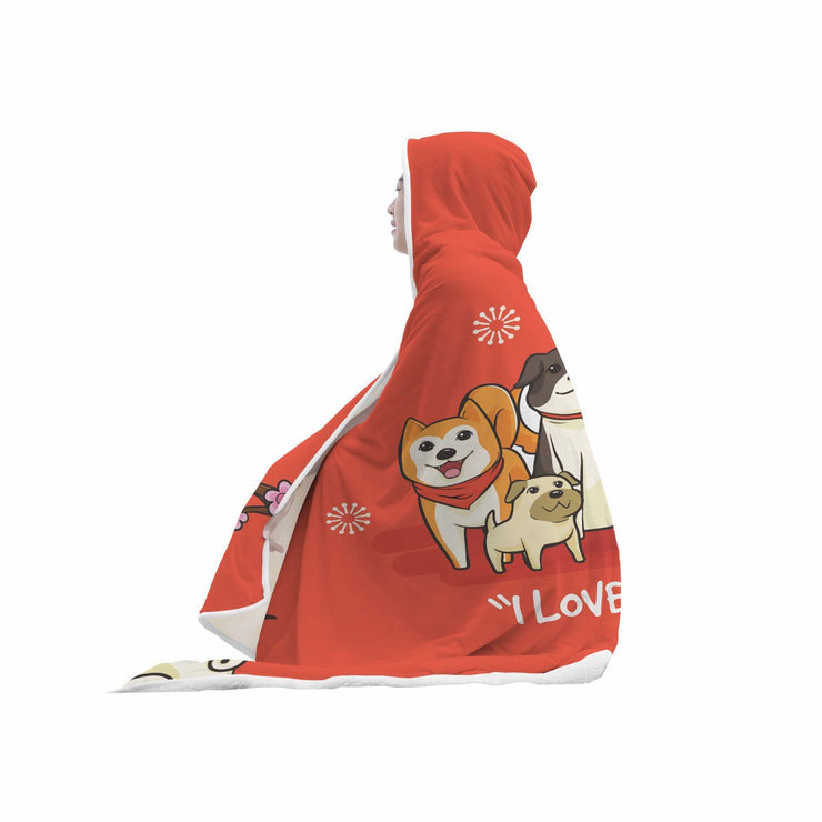 Dog Lover Custom Designed Hooded Blanket - Get Set Style Metro