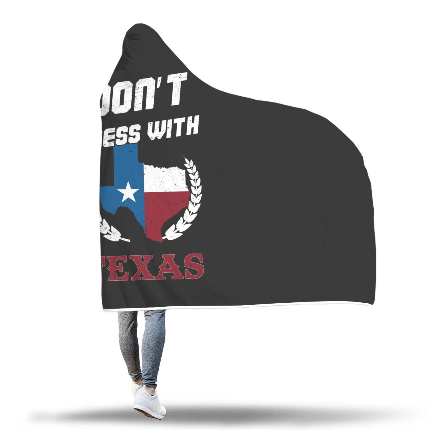 Don't Mess With Texas Design Hooded Blanket - Get Set Style Metro