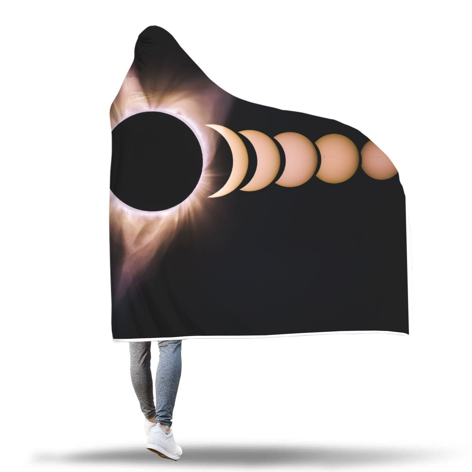Eclipse by Bryan Goff Custom Design Hooded Blanket - Get Set Style Metro