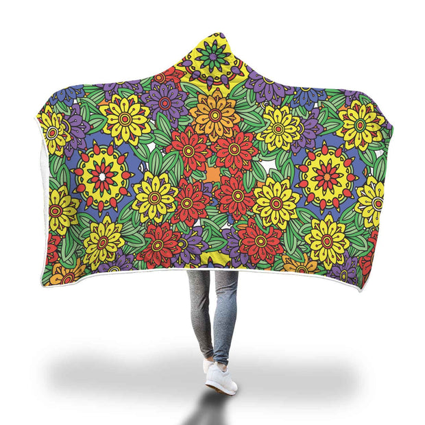 Fabulous Floral Divinity Design Hooded Blanket - Get Set Style Metro