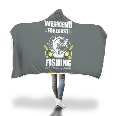Fishing Design Hooded Blanket - Get Set Style Metro