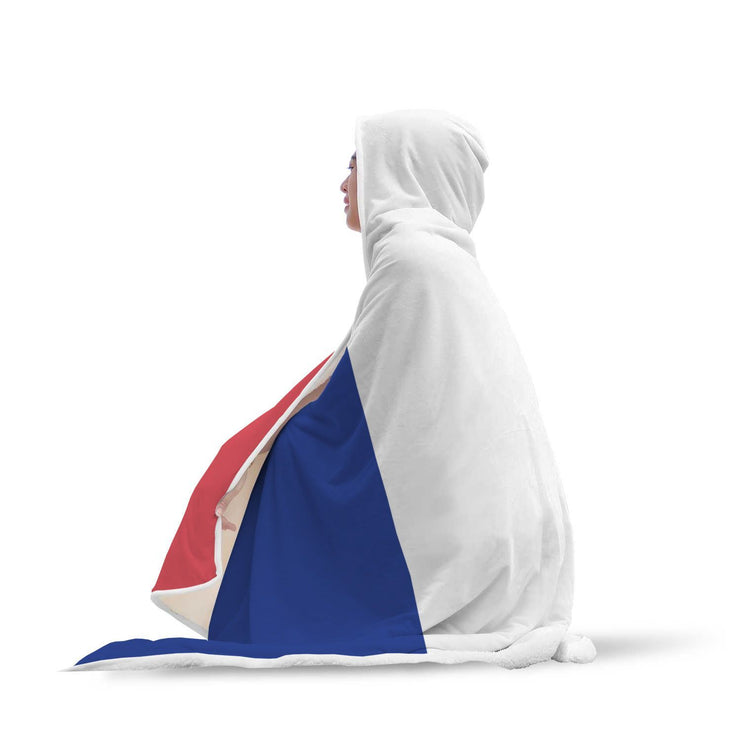 France Flag Custom Designed Hooded Blanket - Get Set Style Metro
