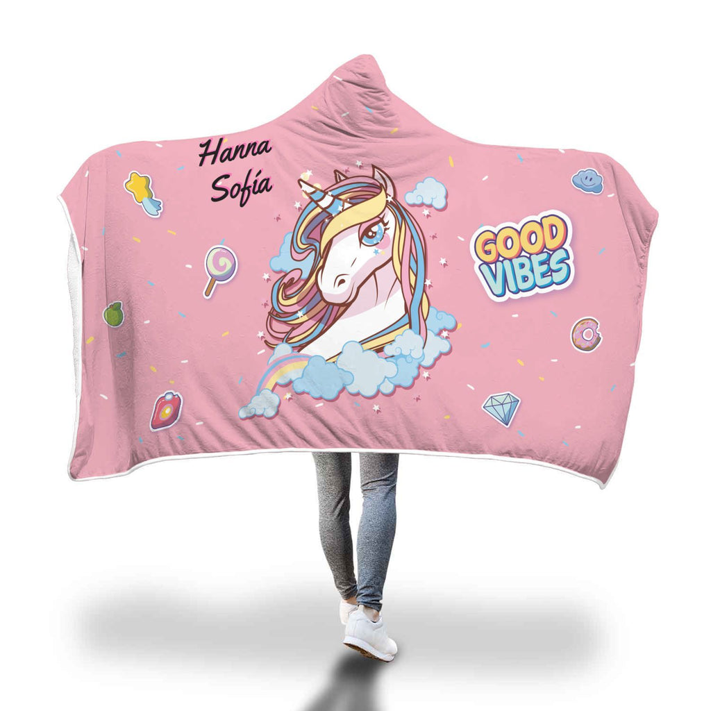 Hanna Sofia Unicorn Hooded Blanket - Get Set Style Metro