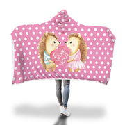 Very Cute Design Hedgehog Hooded Blanket - Get Set Style Metro