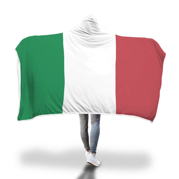 Italian Flag Design Hooded Blanket - Get Set Style Metro