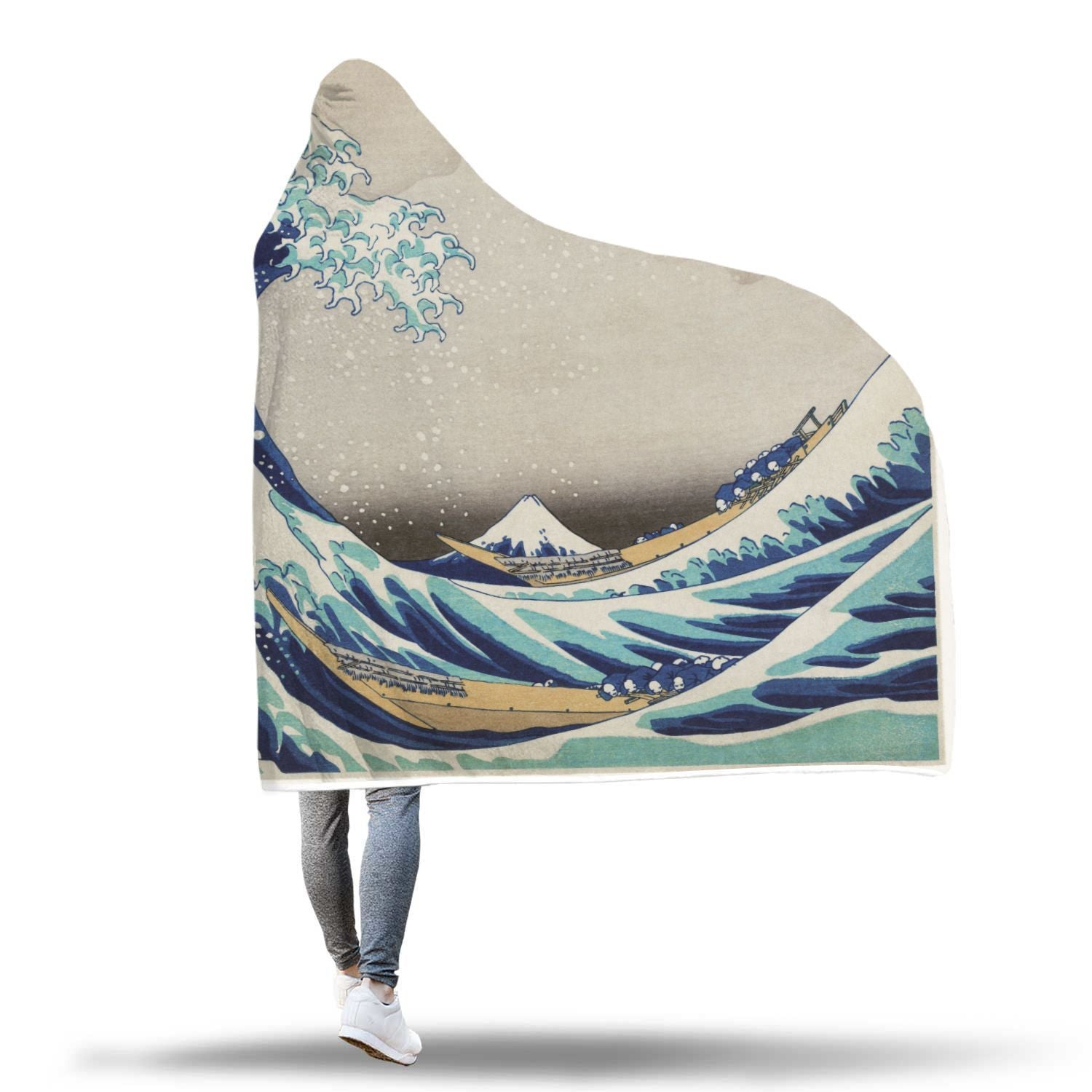 The Great Wave Off Kanagawa Hooded Blanket - Get Set Style Metro