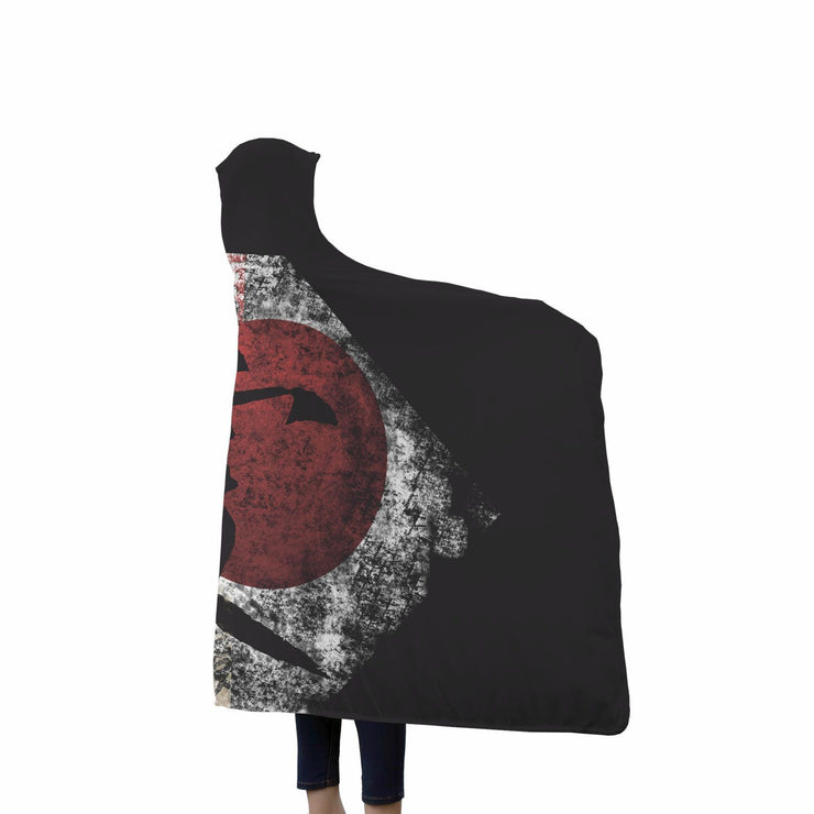 KANJI PEACE, LOVE AND HOPE HOODED BLANKET 2 - Get Set Style Metro