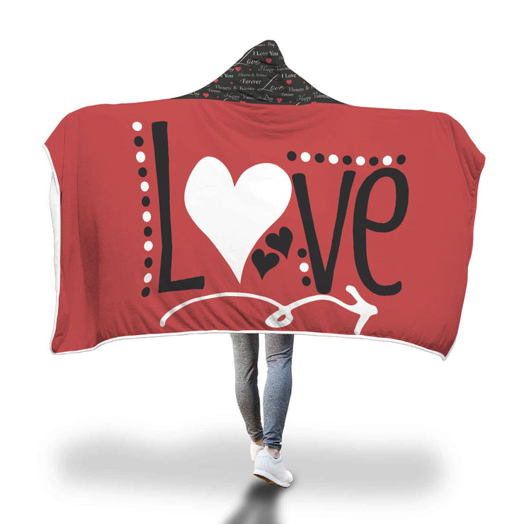 Love Design Hooded Blanket - Get Set Style Metro