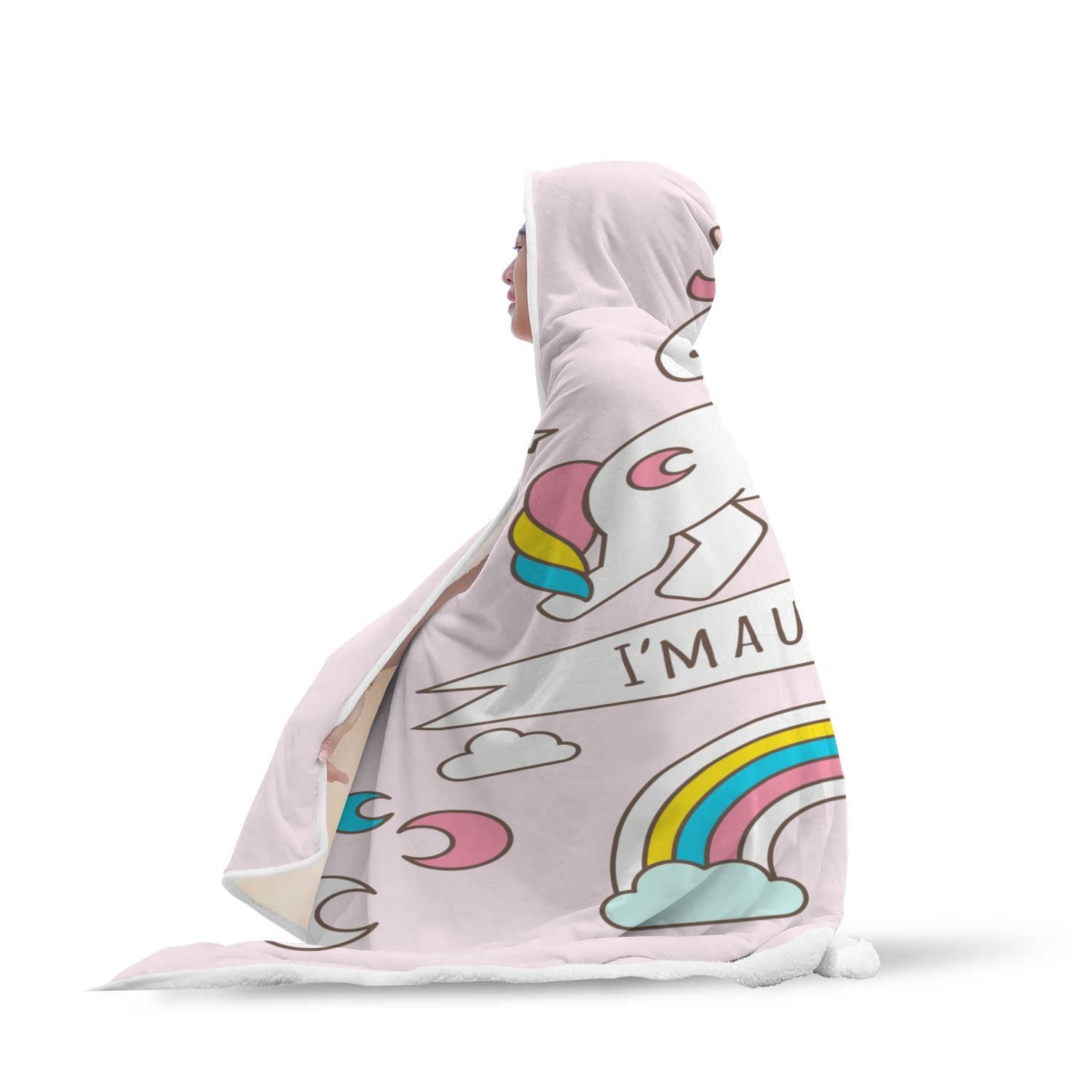 Lovely Unicorn Hooded Blanket - Get Set Style Metro