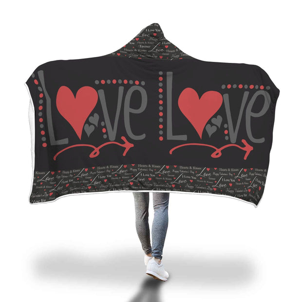 My Two Love Design Hooded Blanket - Get Set Style Metro