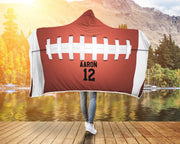 Personalized American Football Top Hooded Blanket - Get Set Style Metro