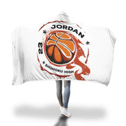 Personalized Basketball Design Hooded Blanket - Get Set Style Metro