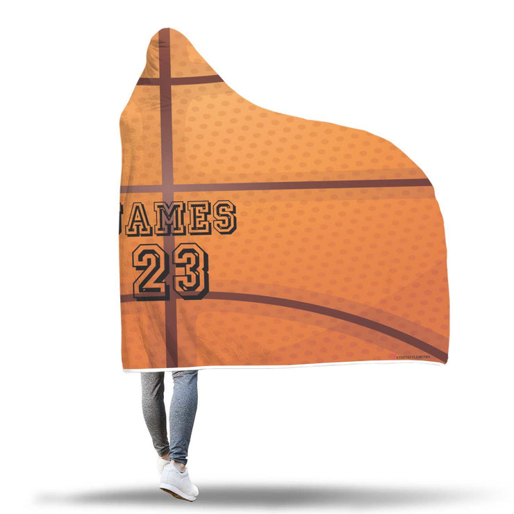 Personalized Basketball Top Hooded Blanket - Get Set Style Metro
